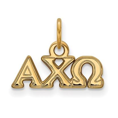 Picture of Alpha Chi Omega Sorority Sterling Silver Gold Plated Extra Small Pendant