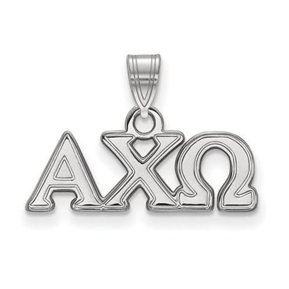 Picture of Alpha Chi Omega Sorority Sterling Silver Small Pendant