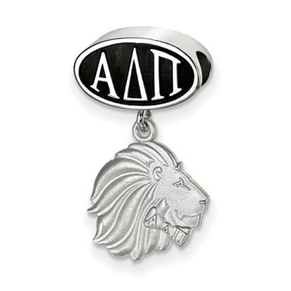 Picture of Alpha Delta Pi Sorority Sterling Silver Lion Dangle Bead