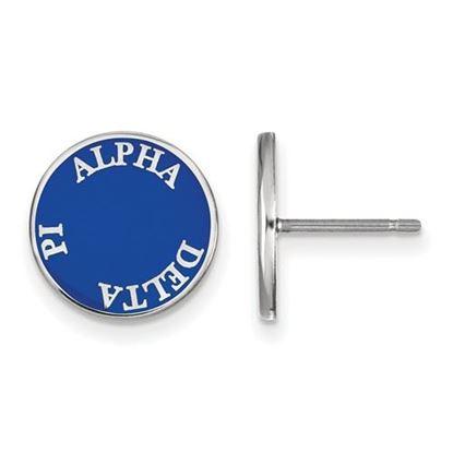 Picture of Alpha Delta Pi Sorority Sterling Silver Enameled Post Earrings