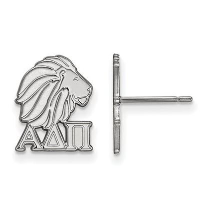 Picture of Alpha Delta Pi Sorority Sterling Silver Extra Small Post Earrings