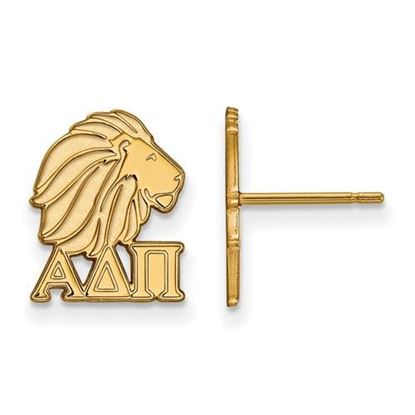 Picture of Alpha Delta Pi Sorority Sterling Silver Gold Plated Extra Small Post Earrings