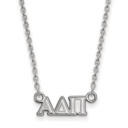 Picture of Alpha Delta Pi Sorority Sterling Silver Extra Small Pendant Necklace