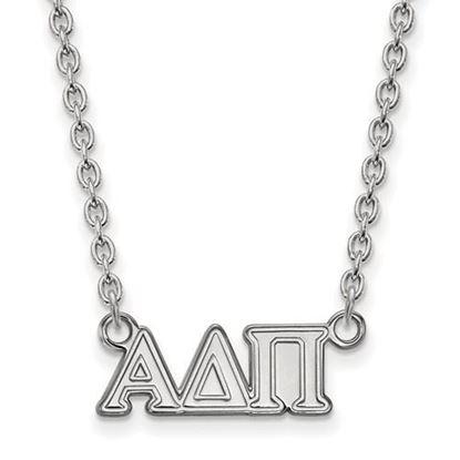 Picture of Alpha Delta Pi Sorority Sterling Silver Medium Pendant Necklace