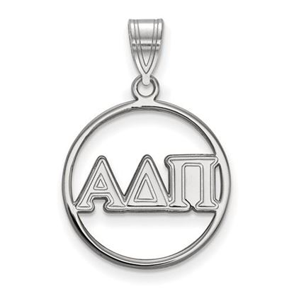Picture of Alpha Delta Pi Sorority Sterling Silver Circle Pendant