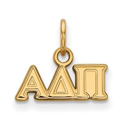 Picture of Alpha Delta Pi Sorority Sterling Silver Gold Plated Extra Small Pendant