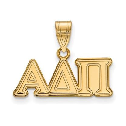 Picture of Alpha Delta Pi Sorority Sterling Silver Gold Plated Medium Pendant