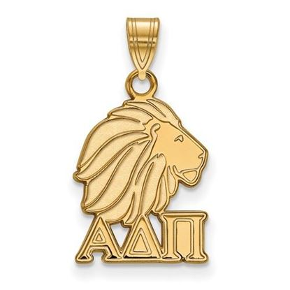 Picture of Alpha Delta Pi Sorority Sterling Silver Gold Plated Small Pendant