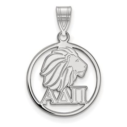Picture of Alpha Delta Pi Sorority Sterling Silver Small Circle Pendant