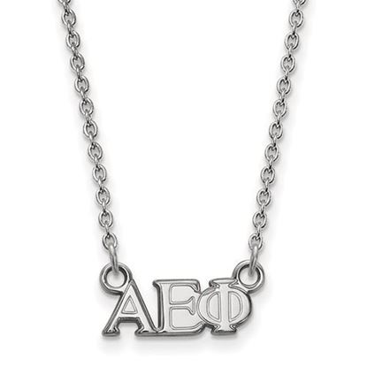 Picture of Alpha Epsilon Phi Sorority Sterling Silver Extra Small Pendant Necklace