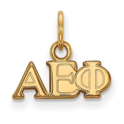 Picture of Alpha Epsilon Phi Sorority Sterling Silver Gold Plated Extra Small Pendant