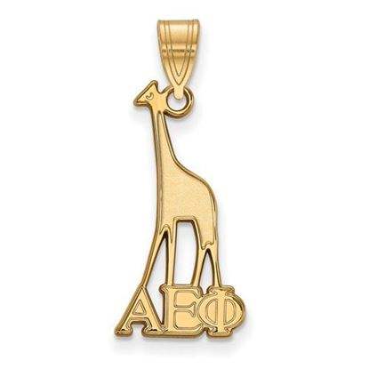 Picture of Alpha Epsilon Phi Sorority Sterling Silver Gold Plated Medium Pendant