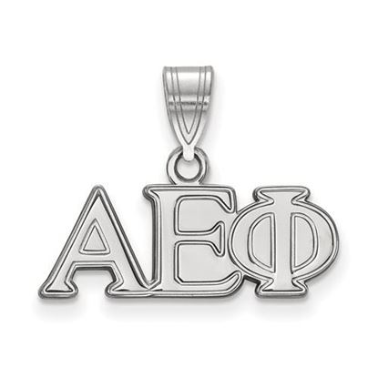 Picture of Alpha Epsilon Phi Sorority Sterling Silver Medium Pendant