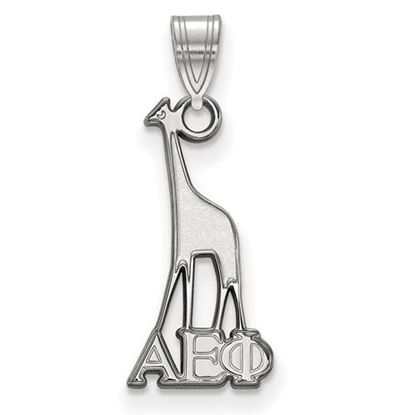 Picture of Alpha Epsilon Phi Sorority Sterling Silver Small Pendant