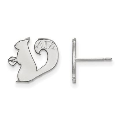 Picture of Alpha Gamma Delta Sorority Sterling Silver Extra Small Post Earrings