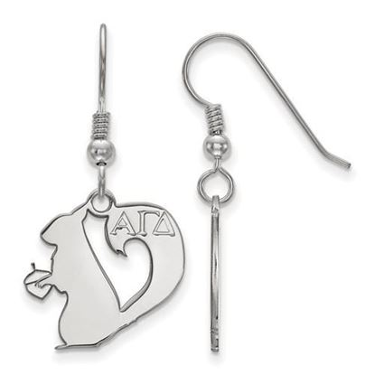 Picture of Alpha Gamma Delta Sorority Sterling Silver Small Dangle Earrings