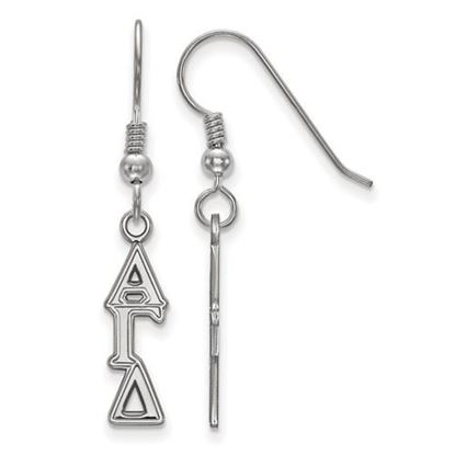 Picture of Alpha Gamma Delta Sorority Sterling Silver Dangle Earrings