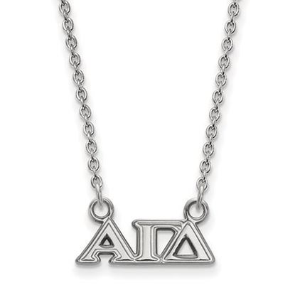 Picture of Alpha Gamma Delta Sorority Sterling Silver Extra Small Pendant Necklace