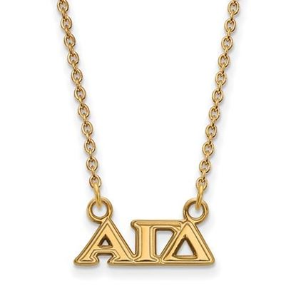 Picture of Alpha Gamma Delta Sorority Sterling Silver Gold Plated Extra Small Pendant Necklace