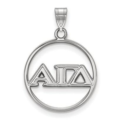 Picture of Alpha Gamma Delta Sorority Sterling Silver Circle Pendant