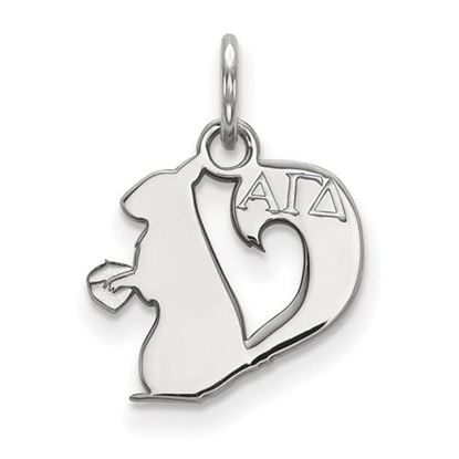 Picture of Alpha Gamma Delta Sorority Sterling Silver Extra Small Pendant