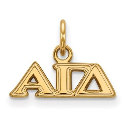 Picture of Alpha Gamma Delta Sorority Sterling Silver Gold Plated Extra Small Pendant