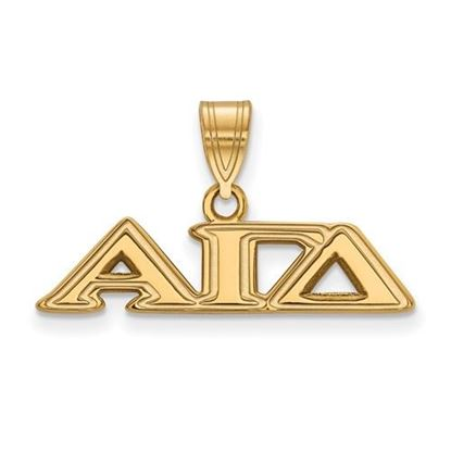Picture of Alpha Gamma Delta Sorority Sterling Silver Gold Plated Medium Pendant