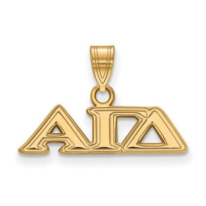 Picture of Alpha Gamma Delta Sorority Sterling Silver Gold Plated Small Pendant