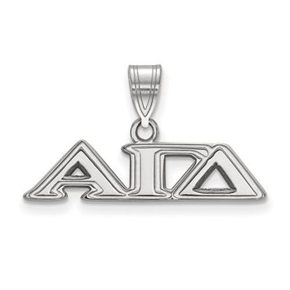 Picture of Alpha Gamma Delta Sorority Sterling Silver Medium Pendant