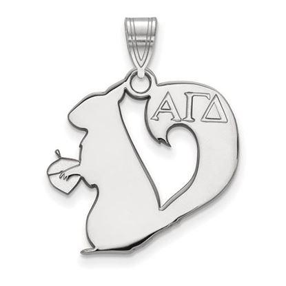 Picture of Alpha Gamma Delta Sorority Sterling Silver Medium Pendant