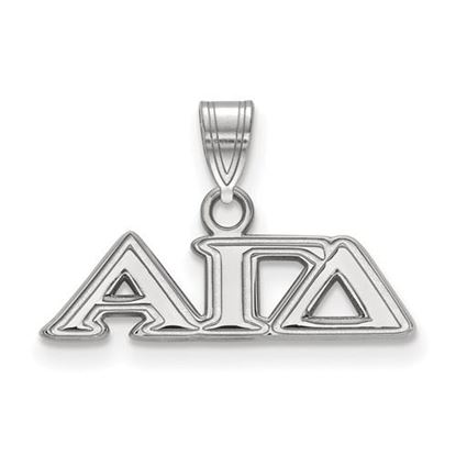 Picture of Alpha Gamma Delta Sorority Sterling Silver Small Pendant