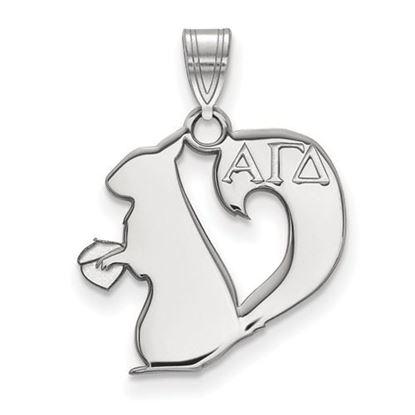 Picture of Alpha Gamma Delta Sorority Sterling Silver Small Pendant