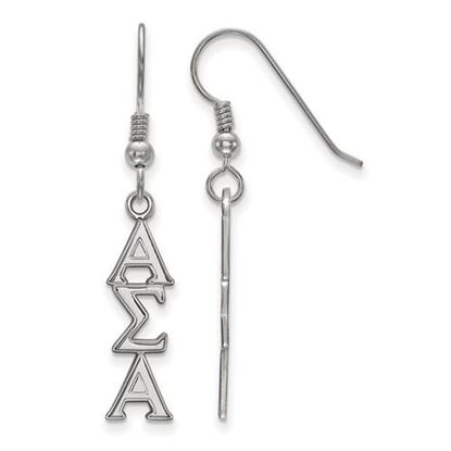Picture of Alpha Sigma Alpha Sorority Sterling Silver Dangle Earrings