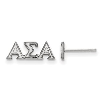 Picture of Alpha Sigma Alpha Sorority Sterling Silver Extra Small Post Earrings