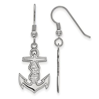 Picture of Alpha Sigma Tau Sorority Sterling Silver Small Dangle Earrings