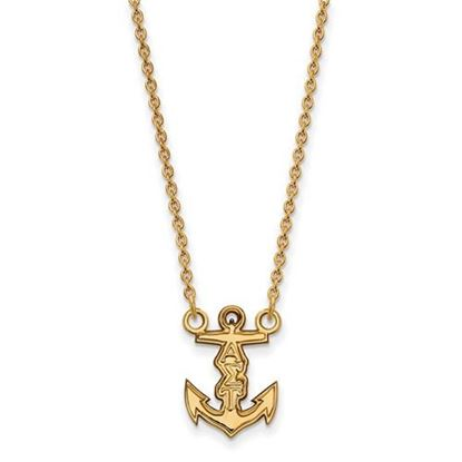 Picture of Alpha Sigma Tau Sorority Sterling Silver Gold Plated Extra Small Pendant Necklace