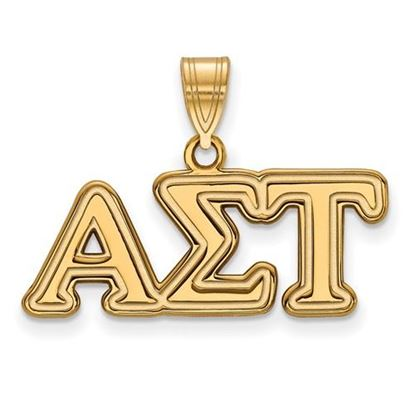 Picture of Alpha Sigma Tau Sorority Sterling Silver Gold Plated Medium Pendant