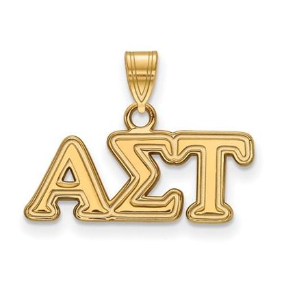 Picture of Alpha Sigma Tau Sorority Sterling Silver Gold Plated Small Pendant