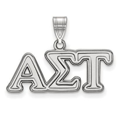 Picture of Alpha Sigma Tau Sorority Sterling Silver Medium Pendant