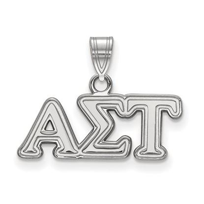 Picture of Alpha Sigma Tau Sorority Sterling Silver Small Pendant