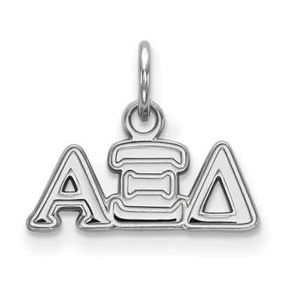 Picture of Alpha Xi Delta Sorority Sterling Silver Extra Small Pendant