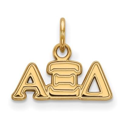 Picture of Alpha Xi Delta Sorority Sterling Silver Gold Plated Extra Small Pendant