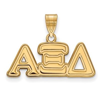 Picture of Alpha Xi Delta Sorority Sterling Silver Gold Plated Medium Pendant