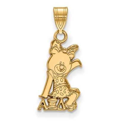 Picture of Alpha Xi Delta Sorority Sterling Silver Gold Plated Small Pendant