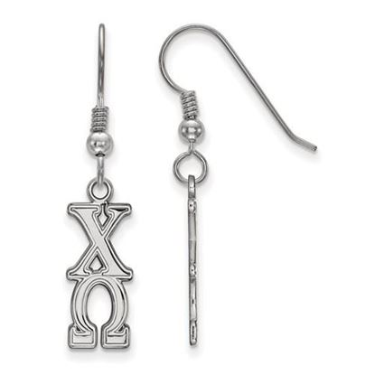 Picture of Chi Omega Sorority Sterling Silver Dangle Earrings