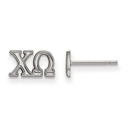 Picture of Chi Omega Sorority Sterling Silver Extra Small Post Earrings
