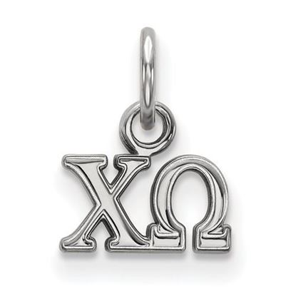 Picture of Chi Omega Sorority Sterling Silver Extra Small Pendant