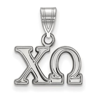 Picture of Chi Omega Sorority Sterling Silver Medium Pendant