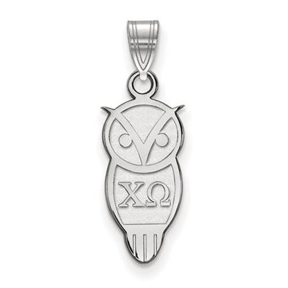 Picture of Chi Omega Sorority Sterling Silver Small Pendant