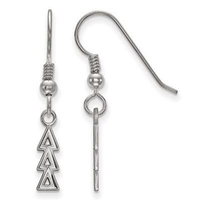 Picture of Delta Delta Delta Sorority Sterling Silver Dangle Earrings